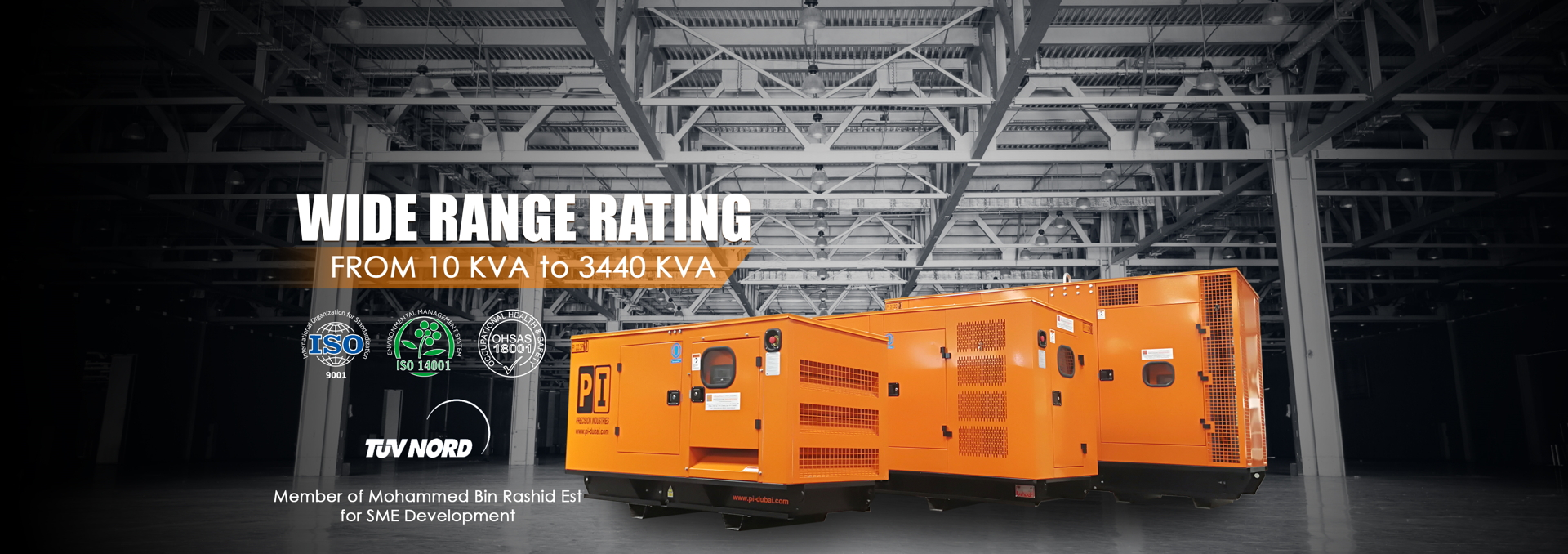 WIDE RANGE RATING From 10 KVA to 3440 KVA