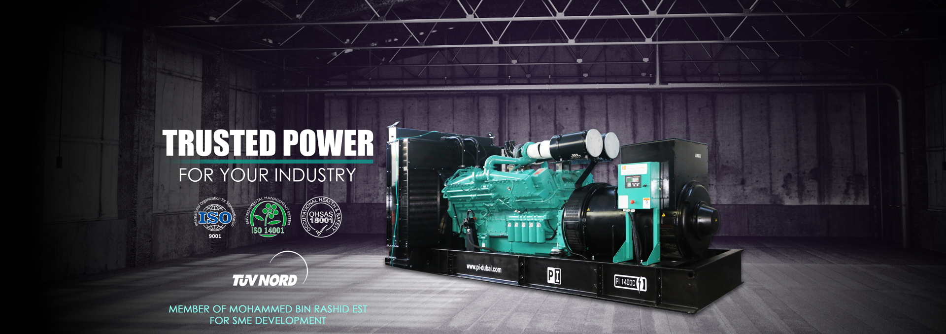 TRUSTED POWER FOR YOUR INDUSTRY
